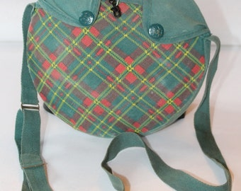 Vintage Girl Scout Canteen with Plaid Cloth Cover, 1956's