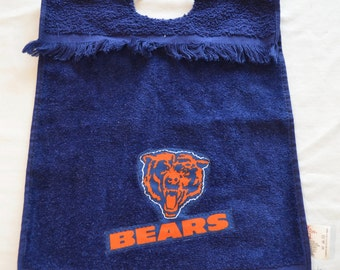 last chance Vintage CHICAGO BEARS towel bib made in USA 100% cotton cannon mills