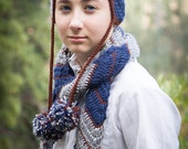 Asymmetrical Chevron Scarf for Kids. Four color stories to choose from.