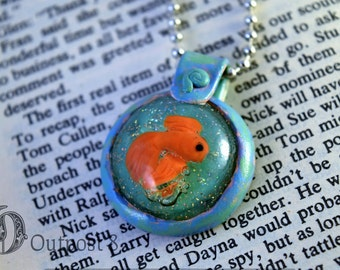 Goldfish Bubble Resin Necklace