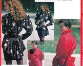 1990s - Sewing Pattern - Blouse - Peplum - Ring Collar - Goth Style - Unique - 90s Fashion - All Sizes - Euro Pattern - Burda 5528 - Uncut