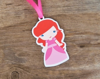 Ariel & Friends Party - Set of 10 Princess Ariel Favor Tags by The Birthday House