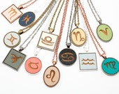 Zodiac Sign Cameo Pendant - Custom Made (Choose Your Color)