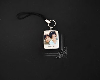 Instant Picture Portrait photo Tile Charm for Cell Phone/Purse/Ipod or Keychain