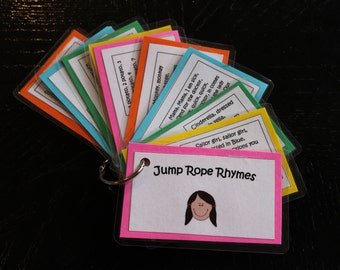 Jump Rope Rhymes, Ten Cards, Digital Files for You to Print