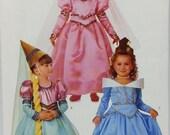 Girls Princess Dress Costume Pattern Butterick 4599 Princess Dress Conical Hat Rapunzel Cinderella