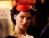 Orange Fascinator Agent Carter Dottie Underwood  fascinator hat CINEMA