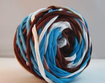 T Shirt Yarn Hand Dyed- Coastal 60 Yards