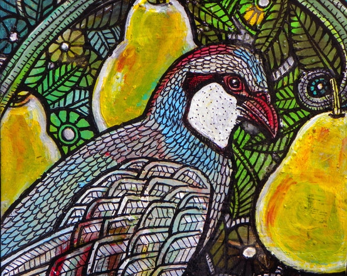 "Original ""Partridge in a Pear Tree"" Painting by Lynnette Shelley"