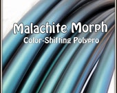 "NeW! Color-Shifting 'MALACHITE MORPH' Polypro!  3/4"" & 5/8"" OD Hoop Or Minis Set! Free Sanding Option."