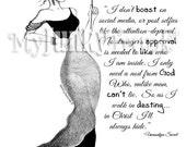 HIDDEN- Fashion Illustration Black and White Art Print