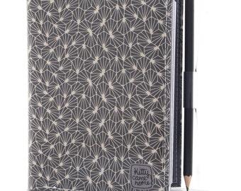 A6 Journal - 1000 stars grey geometric fabric