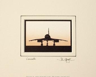 Concorde Hand Cut Papercut