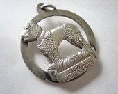 Vintage dog pendant, silver dog penant, vintage poodle pendant, vintage dog pendant, silver poolde pendant