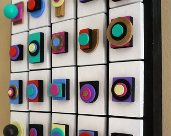 FREEship,Sculptural,Panels,Detailed,Minimalist,Colorful,Contemporary Wall Art