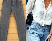 Levi's 501 501s Boyfriend Jeans Vintage 80s Levis denim, 28 X 32 Custom Denim Medium wash Levi Haute fashion crop