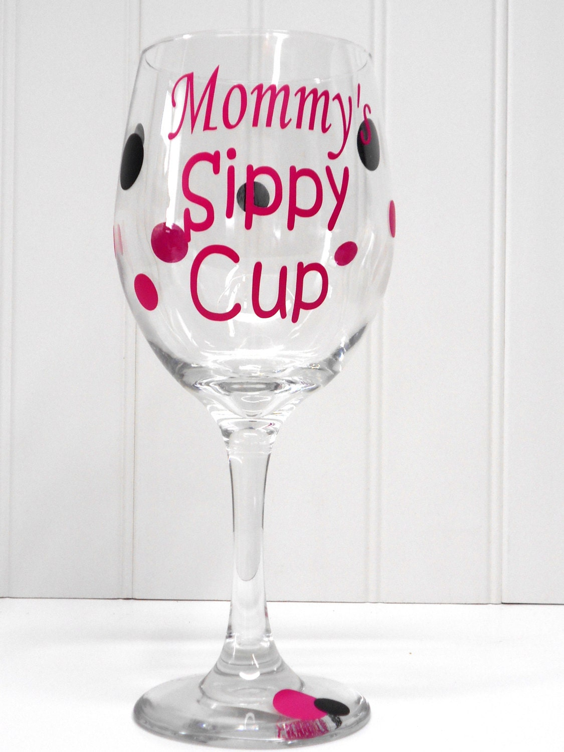 Mommy S Sippy Cup Mom Wine Glass Funny Wine Glass New Mom