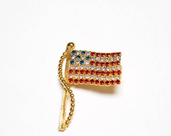 The Gold Plated American Stars & Stripes Flag Pin