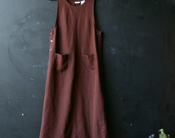 Brown Jumper Sleeveless Midi Dress By White Stag Vintage From Nowvintage on Etsy