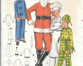 Butterick 5103 1970s Mens Santa Costume Chef Jester Chinese Vintage Sewing Pattern Chest 38