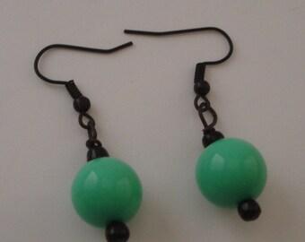 Bakelite Inspired Robins Egg Blue Vintage Bead Earrings