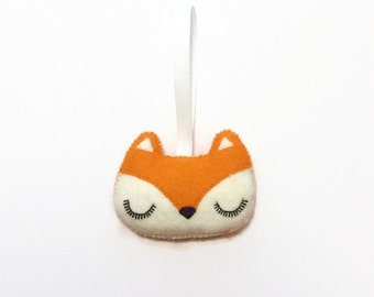 Fox Christmas Ornament - Woodland Fox Ornament - Felt Christmas Ornament - Fox Nursery Decor