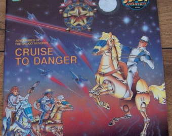vintage 80s childrens picture book GALAXY RANGERS Cruise To Danger sc