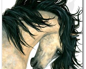 DreamWalker Majestic Buckskin Dappled Horse ArT-  Giclee Print by Bihrle mm162