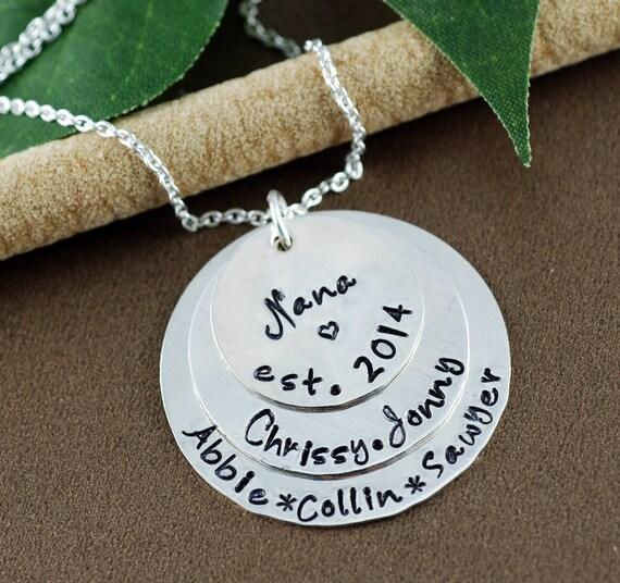 personalized grandma necklace