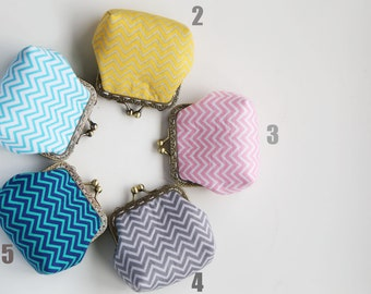 Geometric Chevron little coin Purse