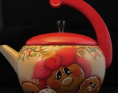 RESERVED FOR FARISDON Gingerbread Teapot and Coffee Pot