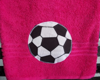 Hot Pink Soccer Towel