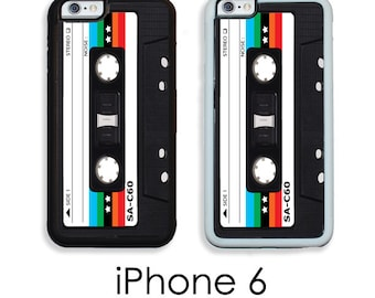 iPhone 6 6S 6 Plus Case Retro Mix Tape Rainbow Star Your Trim Choice Hard , Rubber or Tough Cases