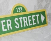 Personalized Sesame Street Sign . Directional Party Sign . Parking Sign . Party this way