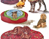 McCall's Craft Pattern 3071  Pet Accessories Dog Beds & Dog Coats (S-M-L)