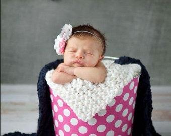 White Mini Blanket Newborn Photography Prop