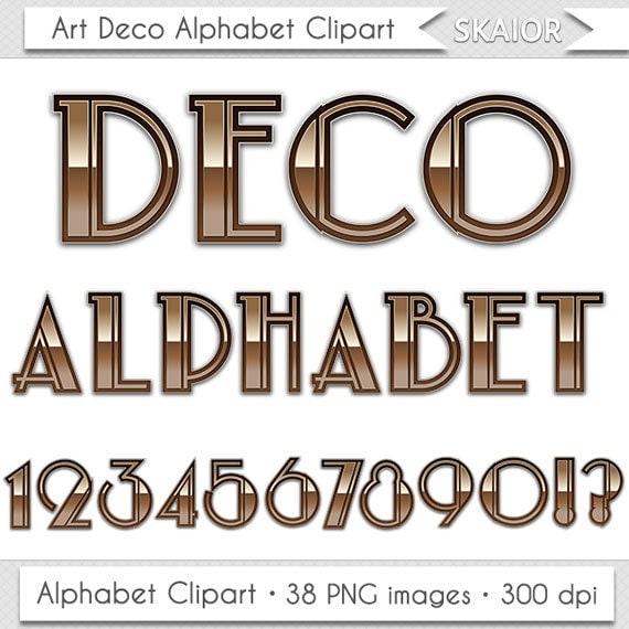 Art Deco Alphabet Clipart Nouveau Letters Clipart Scrapbooking