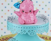 Yumm Ie  - Chewing Gum  chewed gum friends Art Doll ooak  mascot fantasy creatures pastel pink