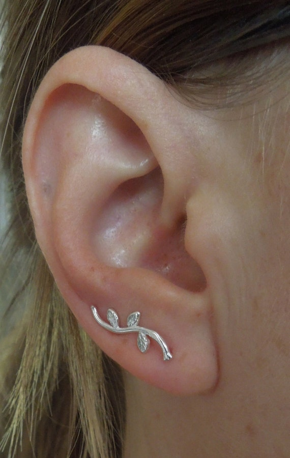 ear climbers silver ear climbers sterling silver ear pins. Black Bedroom Furniture Sets. Home Design Ideas