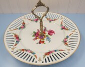 Vintage Tidbit Tray made with Bavarian Schumann Reticulated Porcelain