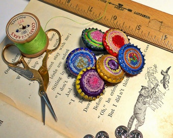 Recycled Bottlecap Tie Tacks