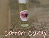 COTTON CANDY PERFUME Oil Roll On - You Choose Scent- 7ml Glass Roll On Bottle,  Paraban and Phthalate Free, Vegan Perfume Oils
