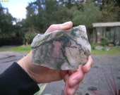 Beautiful Translucent Green India Moss Agate Slab