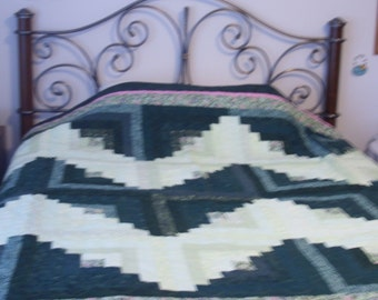 Queen Size Log Cabin Quilt