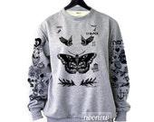 Larry Stylinson Tattoo Sweatshirt Sweater Jumper Pullover Grey Shirt – Size S M L XL 2XL