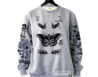 Larry Stylinson Tattoo Sweatshirt Sweater Jumper Pullover Grey Shirt – Size S M L XL 2XL