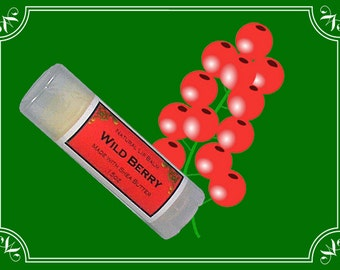 WILD BERRY Lip Balm made with Shea Butter - .15oz Oval Tube