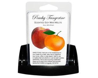 PEACHY TANGERINE Soy Melts // Wax Tarts // Soy Tarts // Candle Tarts // Melting Tarts // Scented Tarts // Dye Free