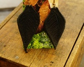 "Earrings 3"" Black Leather Leaf, Woodsy, Leaves, Autumn, Fall, Unique, Handmade, Lightweight, Soft, Dangle, Woodland"