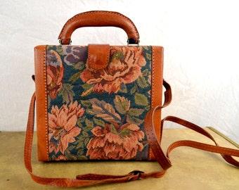 Vintage Floral Tapestry Case Purse